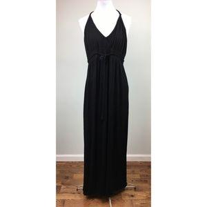 Soft Surroundings Sz L Black maxi dress halter